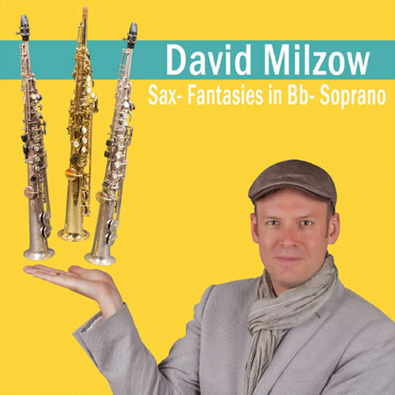 Jazz-Saxophonist David Milzow mit Sopransaxophon, Creative Jazz