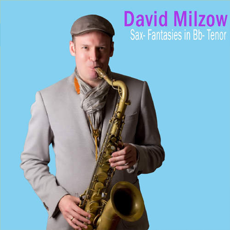 Jazz-Saxophonist David Milzow mit Tenorsaxophon, Creative Jazz