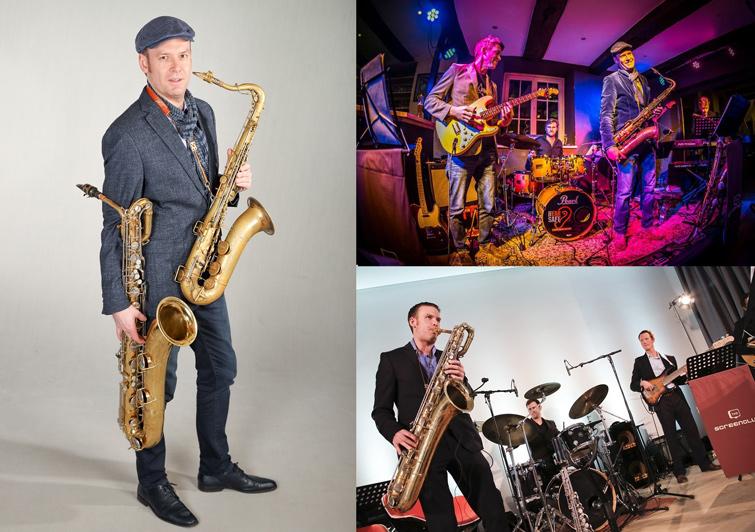Saxophonist David Milzow und The Screenclub