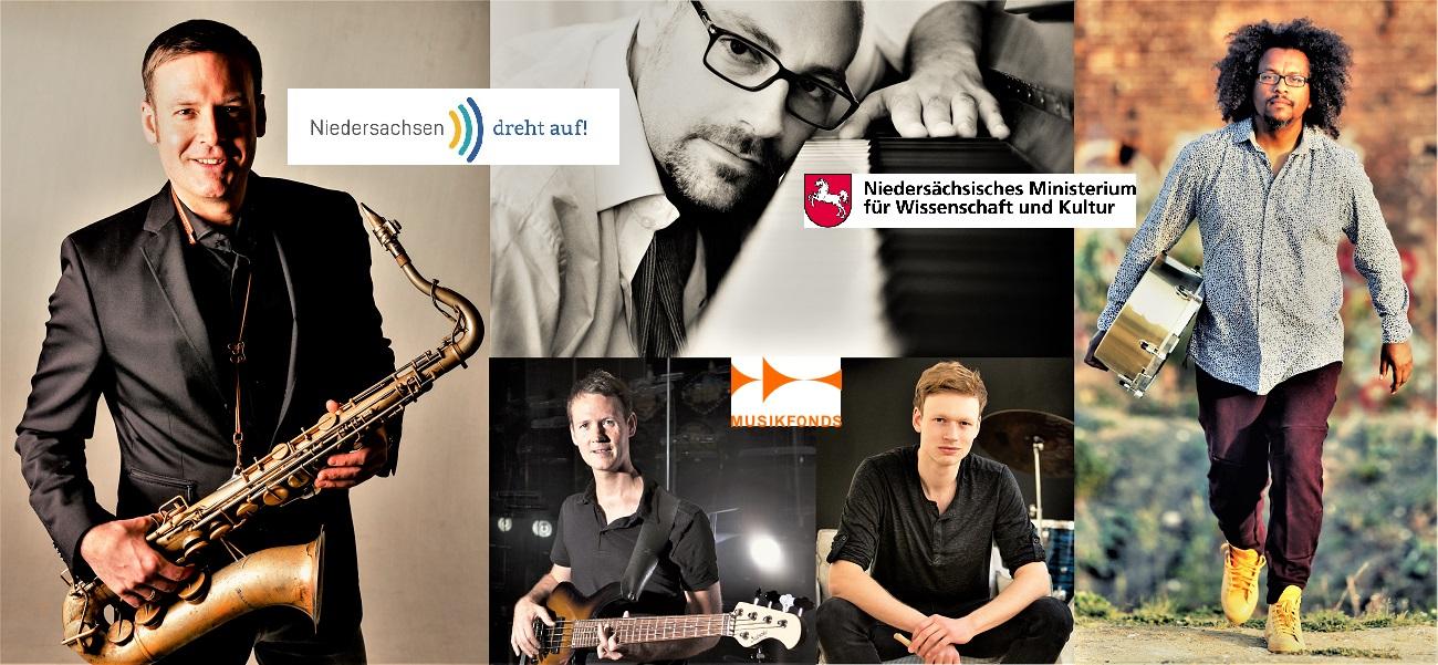 """Jazzband Mezza Milzow- Project gefördert vom Kulturförderprogramm """"Niedersachsen dreht auf"""" vom MWK Niedersachsen"""